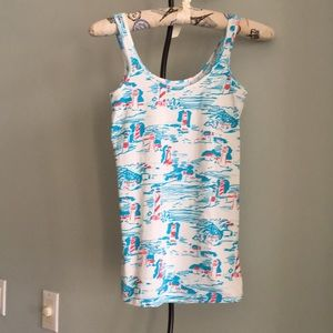 LILLY PULITZER LIGHHOUSE PRINT TANK TOP